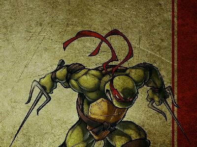 """忍者龜之中,我比較喜歡有少少燥底的Raphael~ 他的專屬兵器在日本叫 """"浪人叉"""" or """"SAI"""",中國則叫 """"鐵尺""""。"""