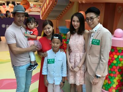 糖果裝置主題開幕,陸浩明及女友Ayan、徐榮一家