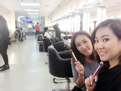 在TVB 化妝間遇上好朋友化妝師Soey 一起談化妝