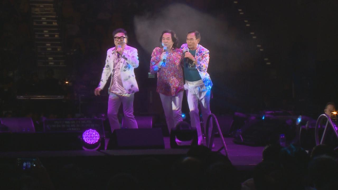 龍威武演唱會尾場 三人落力獻唱經典歌曲