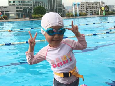 第8堂游水堂,5歲妹妹學識啦!