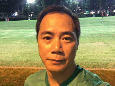 崔錦棠 football game with Martin Tyler