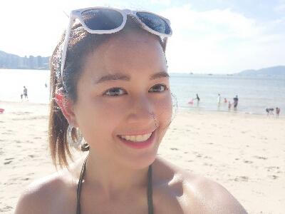 2017-07-22 鍾晴 去左沙灘曬太陽變黑妹