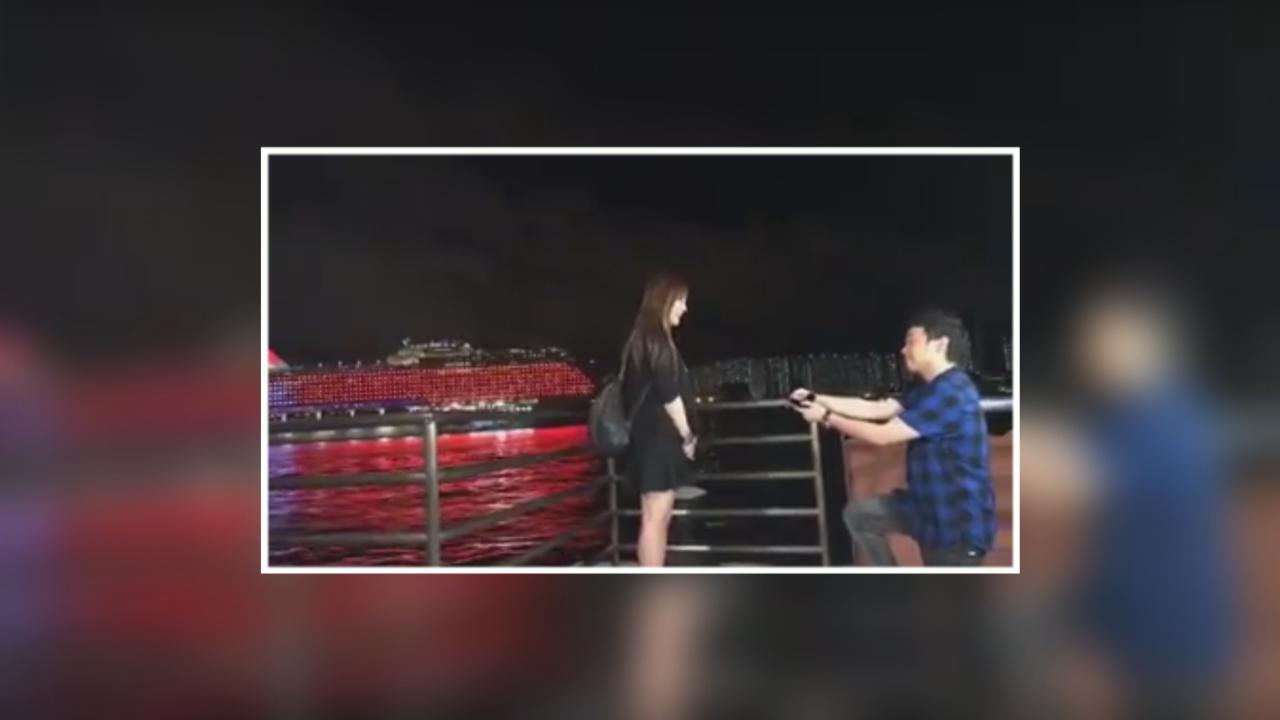 (國語)葉文輝為圈外女友炮製驚喜 社交網站直播求婚過程