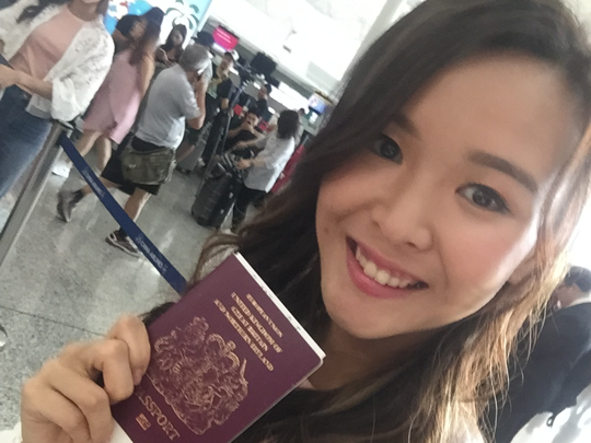 Angela's flight to Taipei