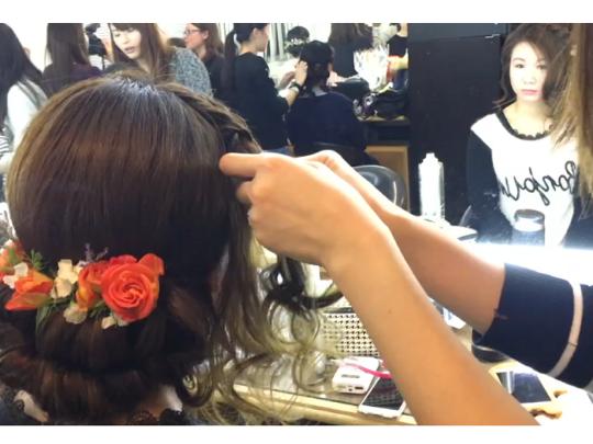 化妝師學生弄的新娘髮型❤️❤️