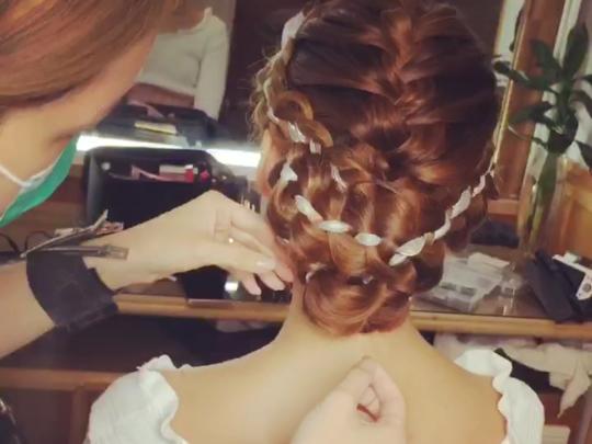 iMAKEUP 化妝師示範美美的新娘髮型❤️❤️