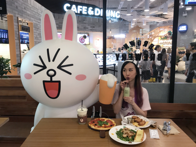 ?line friends cafe?