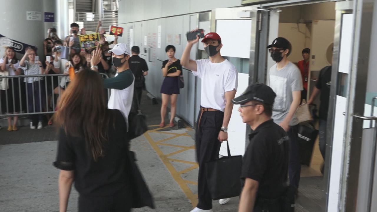 (國語)韓星KimSamuel男團CNBLUE同日抵港 吸引眾粉絲接機