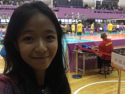 直擊清華大學世大運排球比賽場地