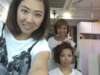 今日下午試新娘妝頭--不同造型