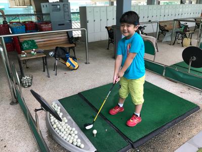 尚志BB Aaric 好耐冇返嚟打 Golf 啦