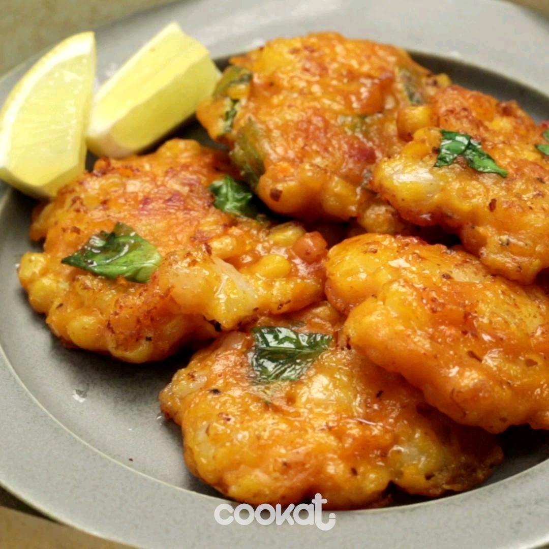 [食左飯未呀 Cookat] 粟米蝦煎餅