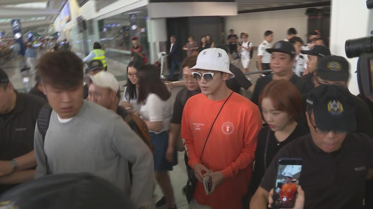 (國語)2PM成員Jun.K與白娥娟到港演出 吸引大批粉絲接機