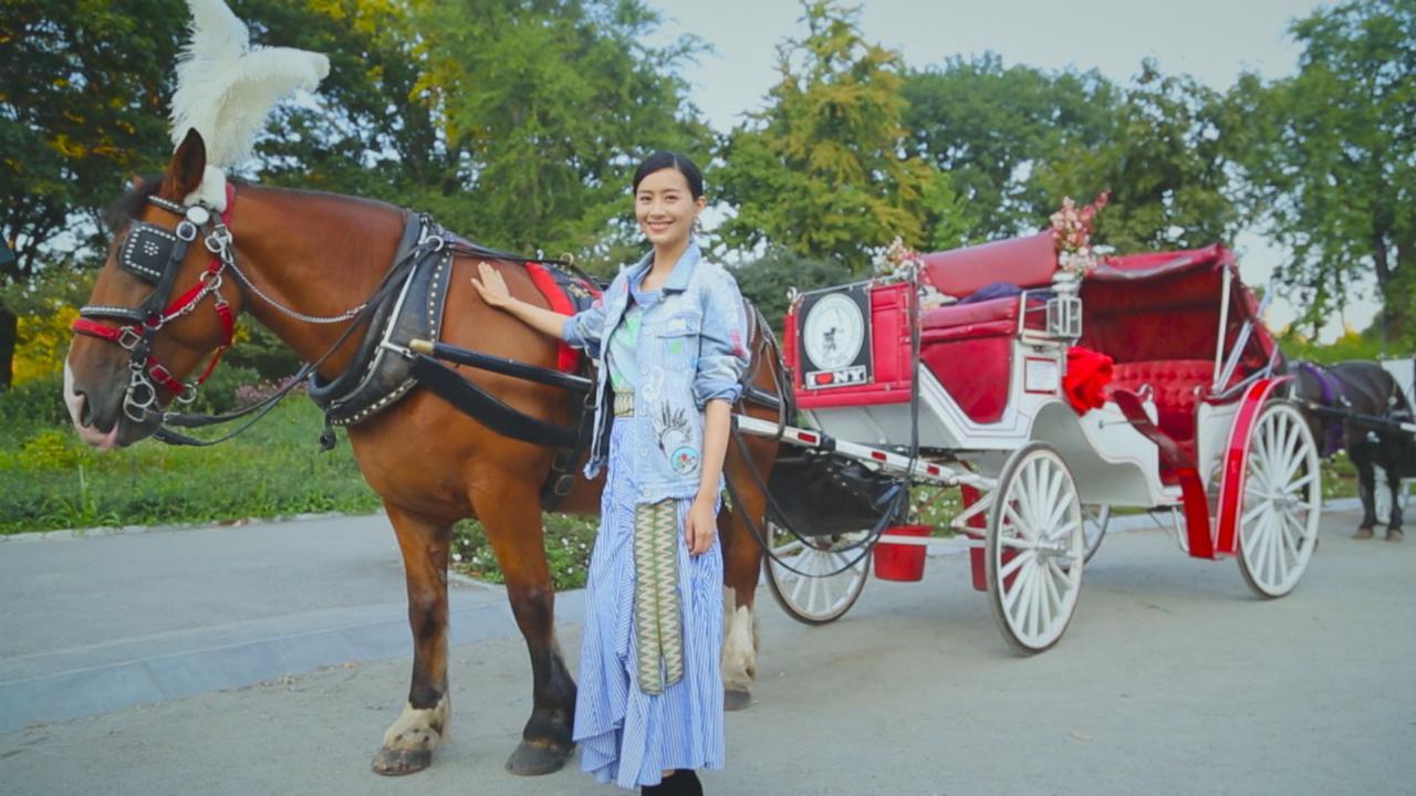 陳法拉化身導遊 帶胡巴遊紐約中央公園