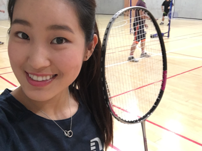 Badminton with TVB colleagues!