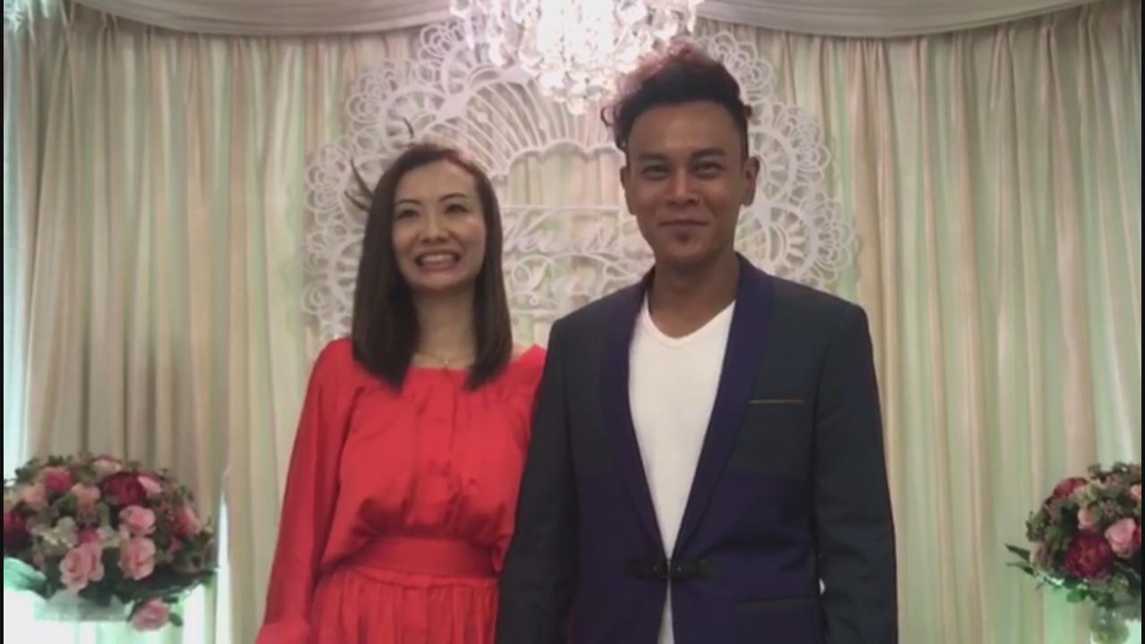 (國語)李天翔正式註冊結婚 太太宣誓時一度哽咽