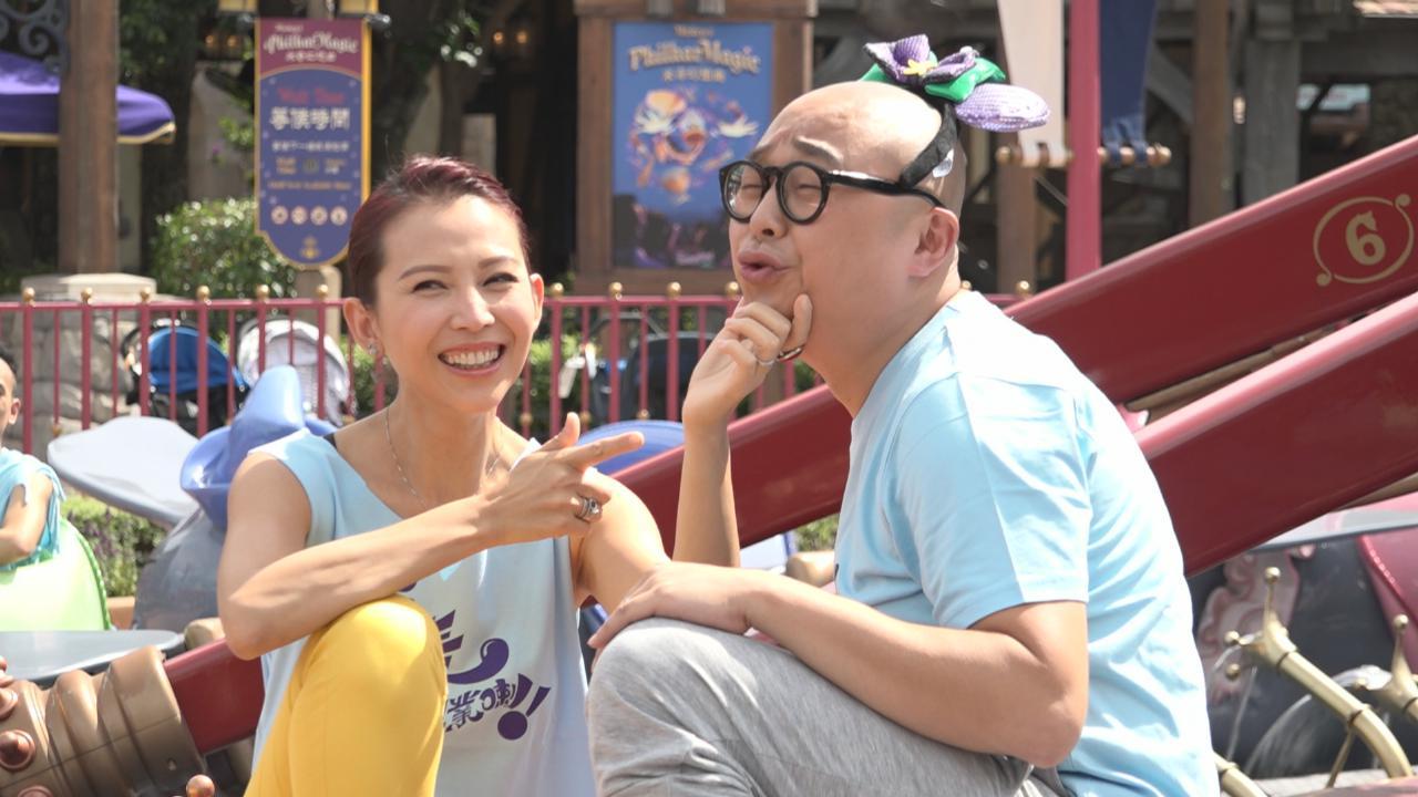 老表眾演員遊主題樂園 蔡少芬與林盛斌合作難忍笑