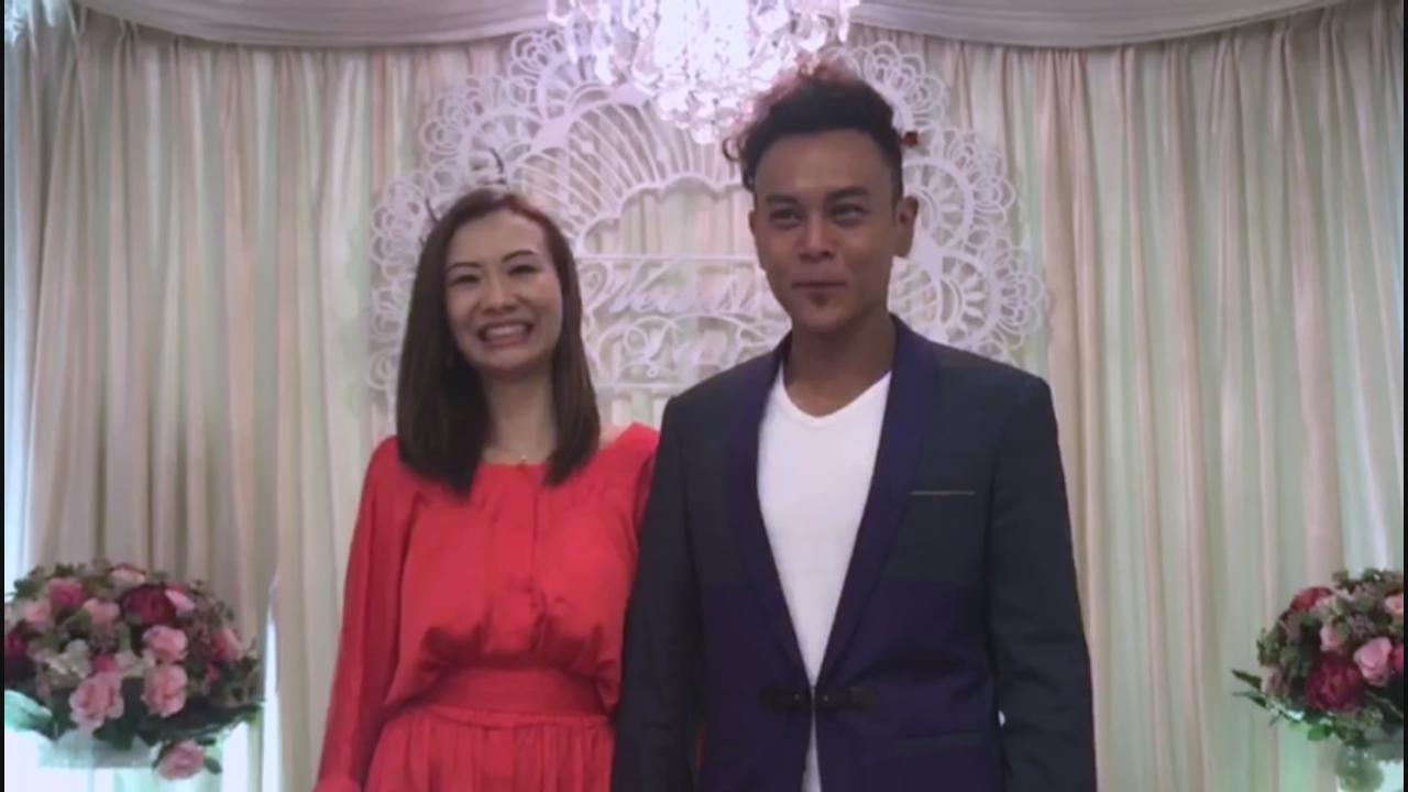 李天翔與女友簽紙結婚 宣誓時一度哽咽