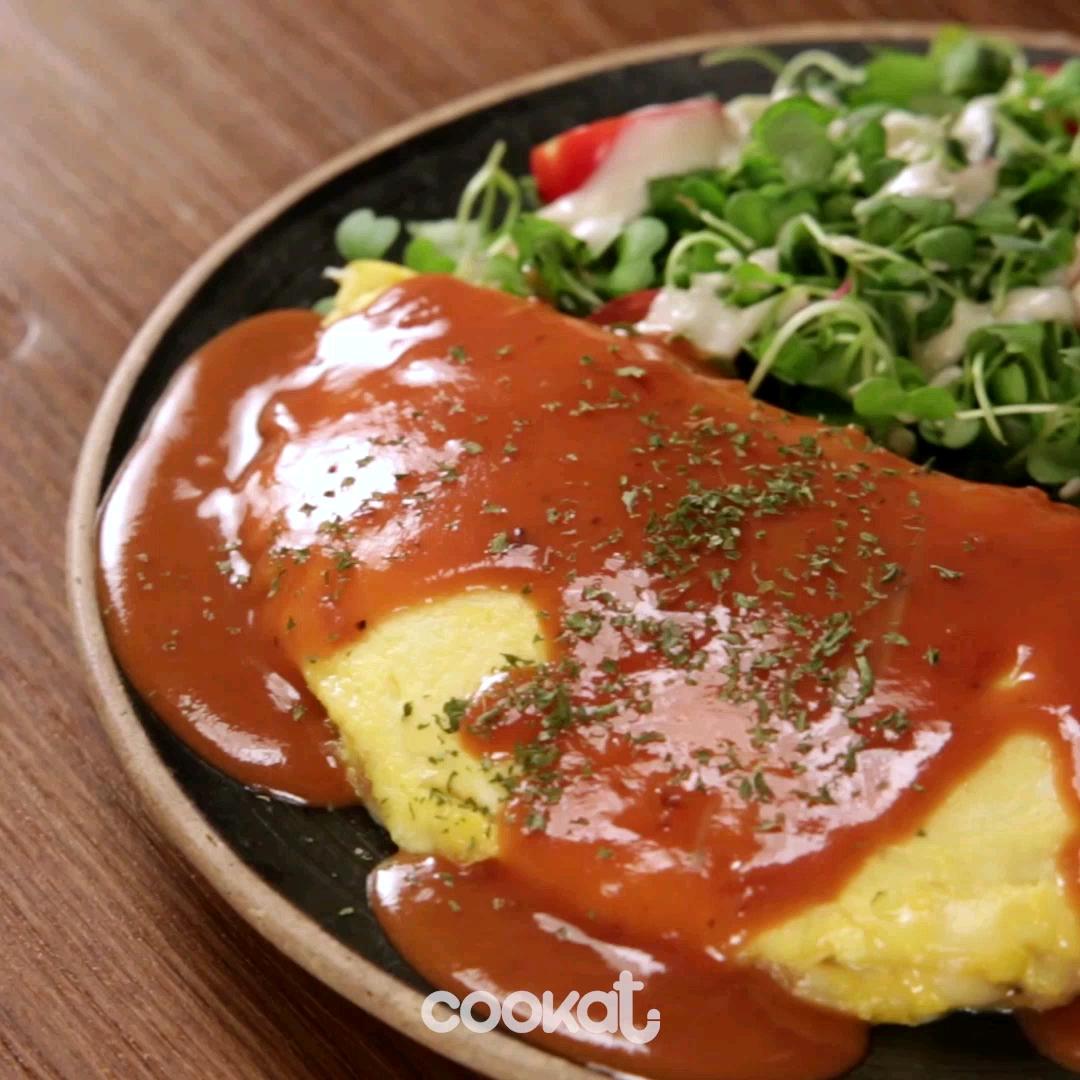 [食左飯未呀 Cookat] 韓式芝士蛋包飯
