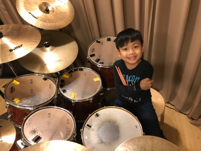 2017-11-01 小廚神 Cameron on drums