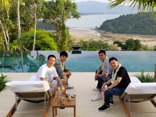 Anantara Phuket Layan Residence shooting in progress
