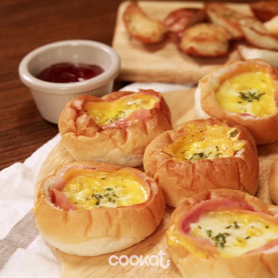 [食左飯未呀 Cookat] 火腿粟米餐包
