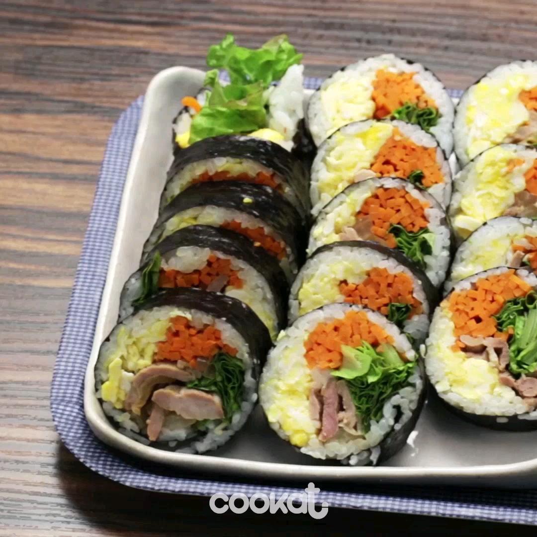 [食左飯未呀 Cookat] 豬肉雞蛋紫菜包飯