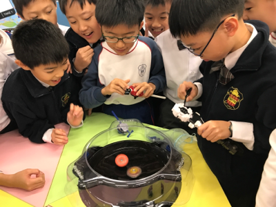 同學大玩 STEM 爆旋陀螺