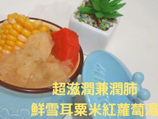 小小豬湯水篇 - 鮮雪耳粟米紅蘿蔔湯