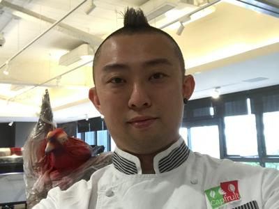 nJeffery Koo 台北甜品示範準備工作