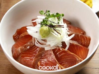 [食左飯未呀 Cookat] 三文魚蓋飯