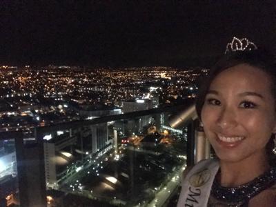 Night talk with night view