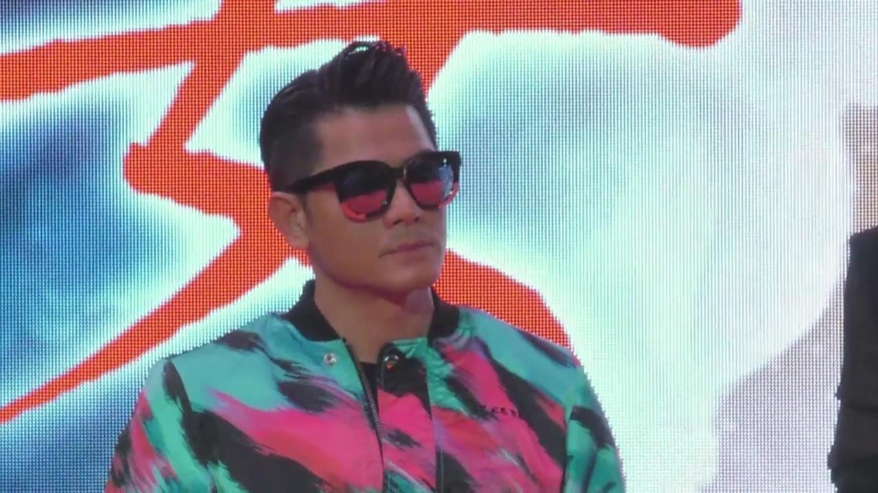 (國語)郭富城廣州宣傳新片 兩代猴王同台互戴高帽