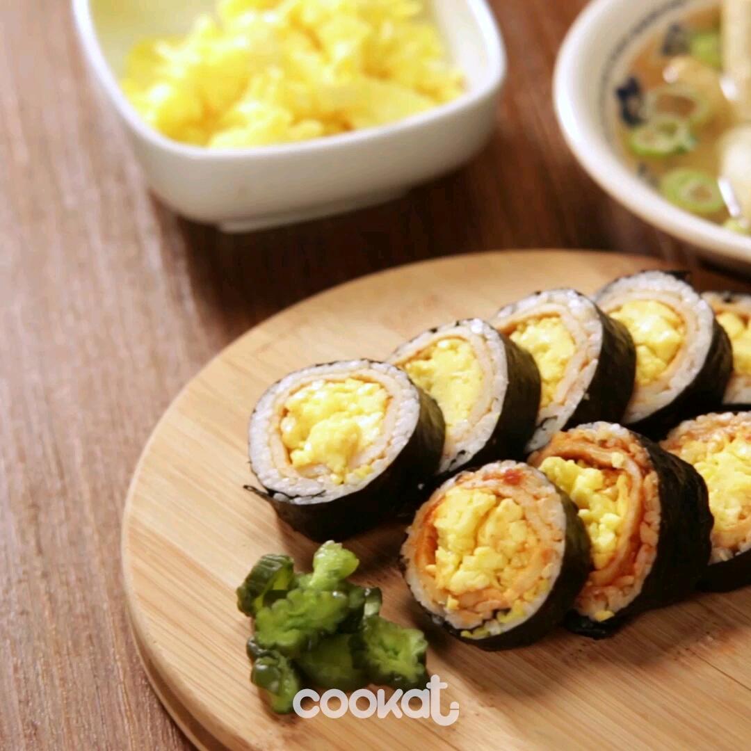 [食左飯未呀 Cookat] 炒蛋紫菜包飯