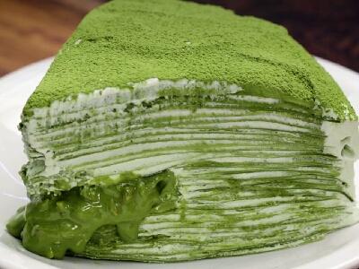 [食左飯未呀 Cookat] 綠茶千層蛋糕