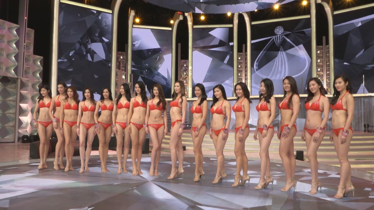 2018國際中華小姐競選泳裝綵排 候選佳麗展現美好身段
