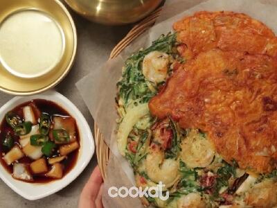 [食左飯未呀 Cookat] 韭菜泡菜煎餅