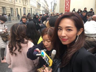 巴黎時裝週-Angelababy睇Dior Show