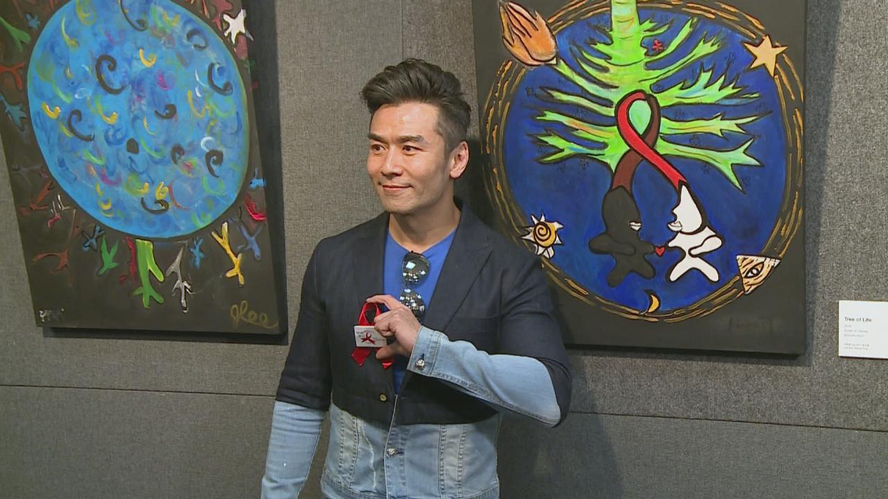 出席慈善活動展出畫作 唐文龍重拾畫畫興趣