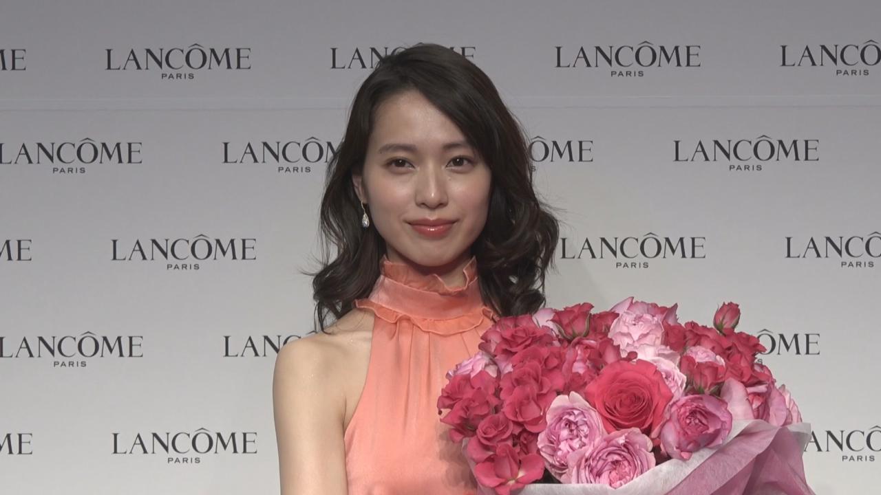 (國語)以粉色長裙出席代言活動 戶田惠梨香盡顯優雅氣質