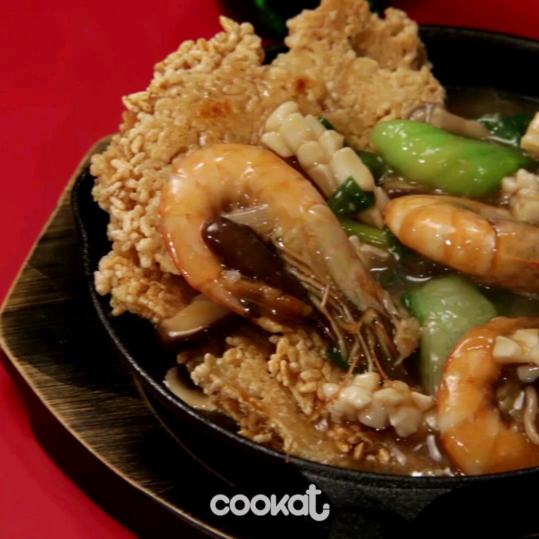 [食左飯未呀 Cookat] 海鮮湯鍋巴