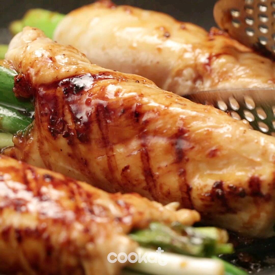 [食左飯未呀 Cookat] 惹味大蔥雞胸卷