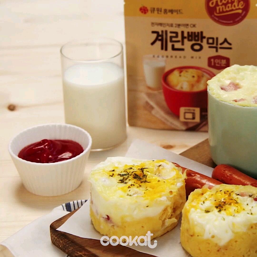 [食左飯未呀 Cookat] 煙肉芝士蛋鬆餅