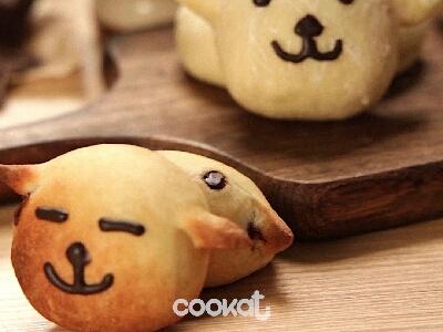 [食左飯未呀 Cookat] 小狗狗麵包