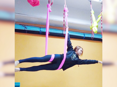 Aerial Yoga Lesson 前