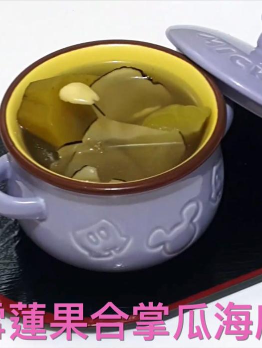 小小豬湯水篇 - 雪蓮果合掌瓜海底椰瘦肉湯