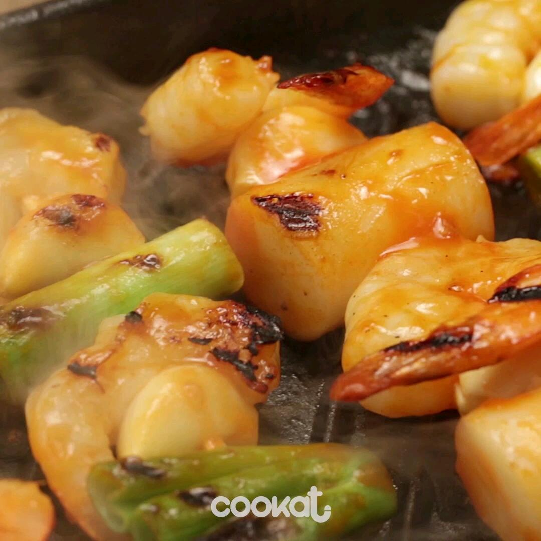 [食左飯未呀 Cookat] 大蒜蝦串