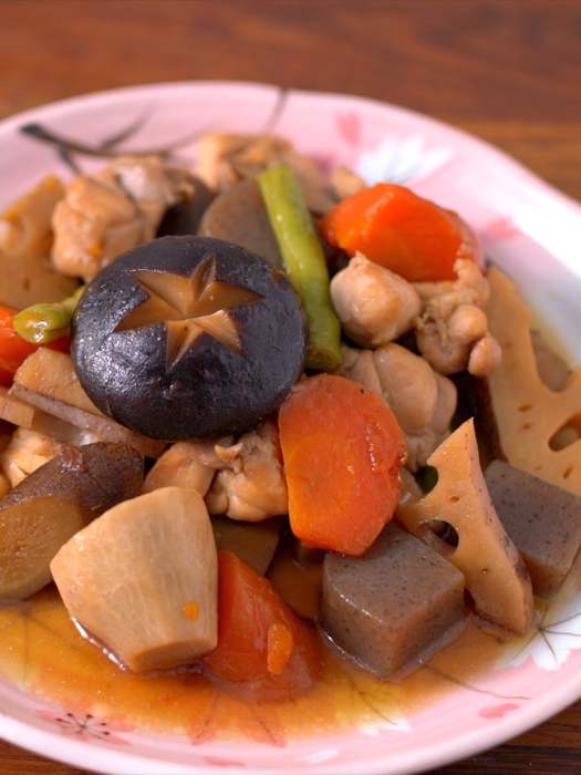 筑前煮 Simmered Chicken And Vegetables [by 點Cook Guide]