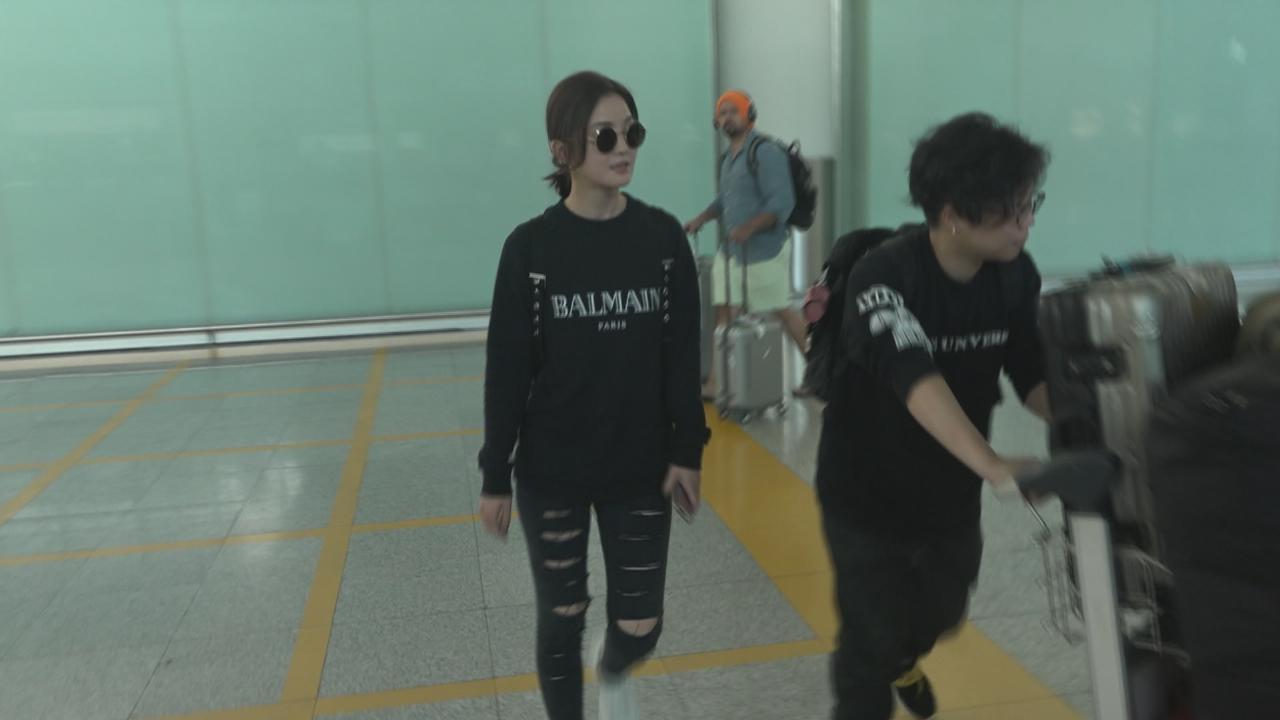 蔡卓妍趕返港拍新戲 大讚阿嬌婚禮感人